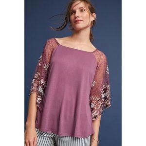 Akemi + Kin Callista lace flowy Top mauve purple